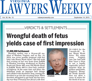 The Zydron Law Firm Personal Injury News - Hampton Roads VA & eastern NC
